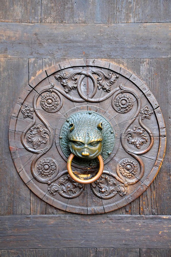 Old door knob stock photography