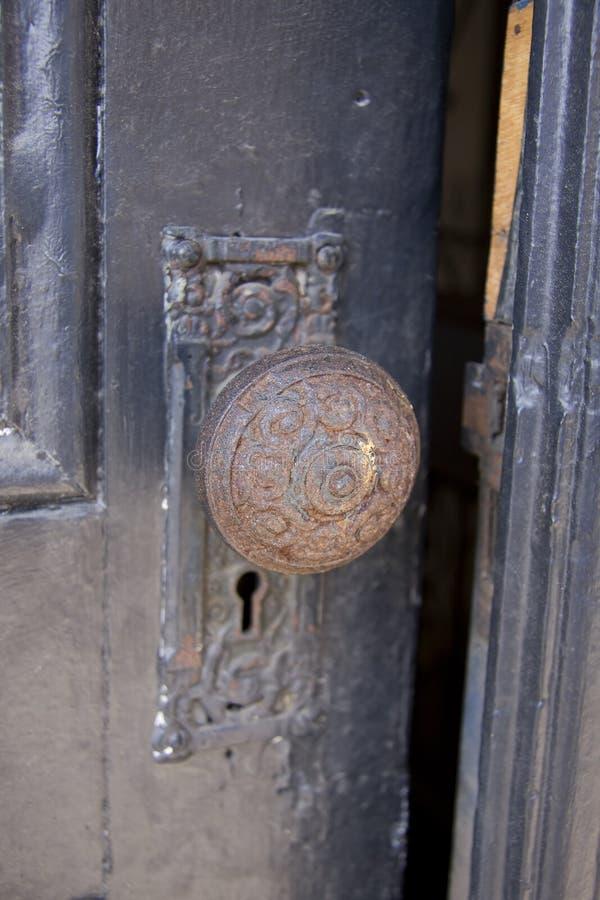Old door knob stock image