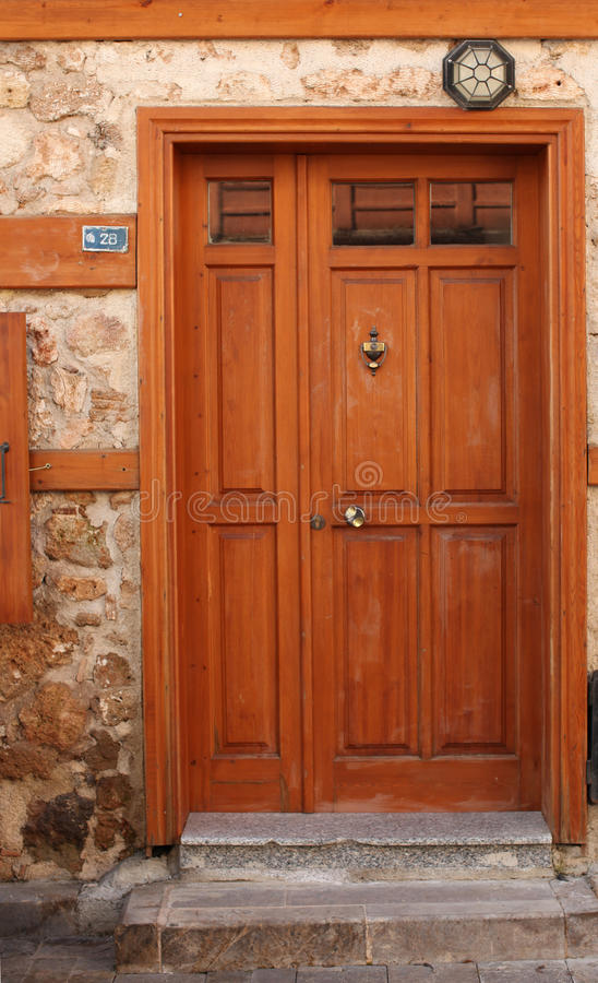 Download Old door with knocker stock image. Image of iron, brown - 13164127