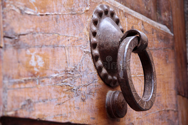 Old door knockers royalty free stock photos