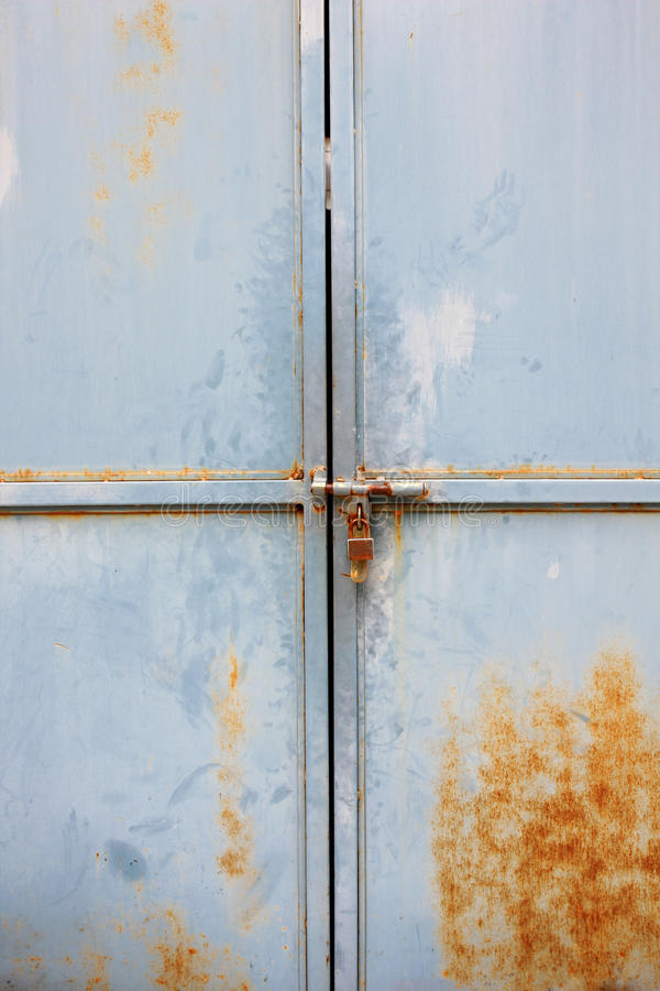 Old door with lock royalty free stock photos