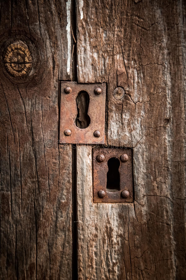 Download Old door lock stock image. Image of carpentry, surface - 67317221