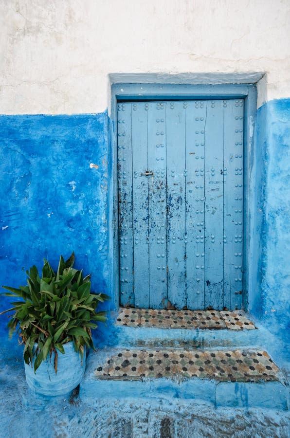 Old door in rabat; morocco stock photos