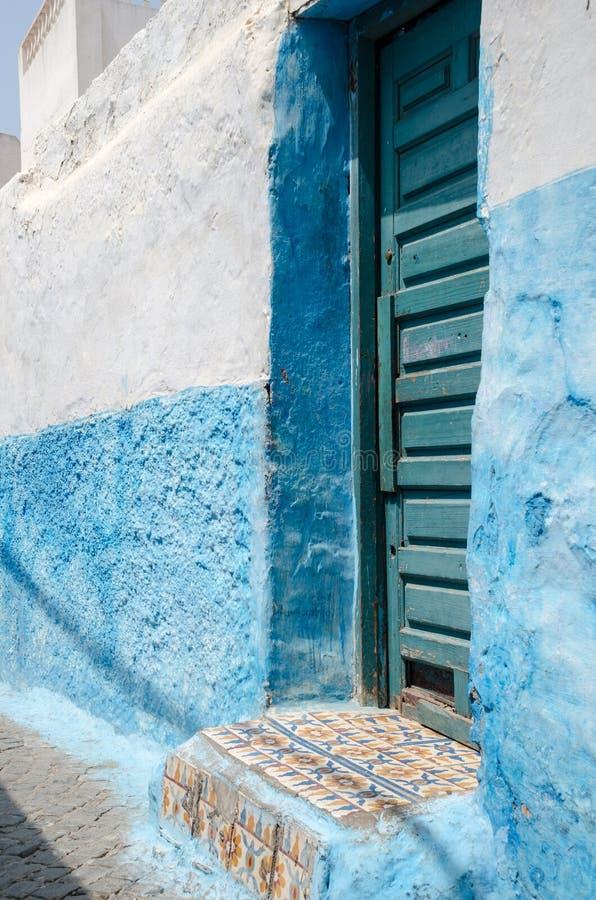 Old door in rabat; morocco royalty free stock photography