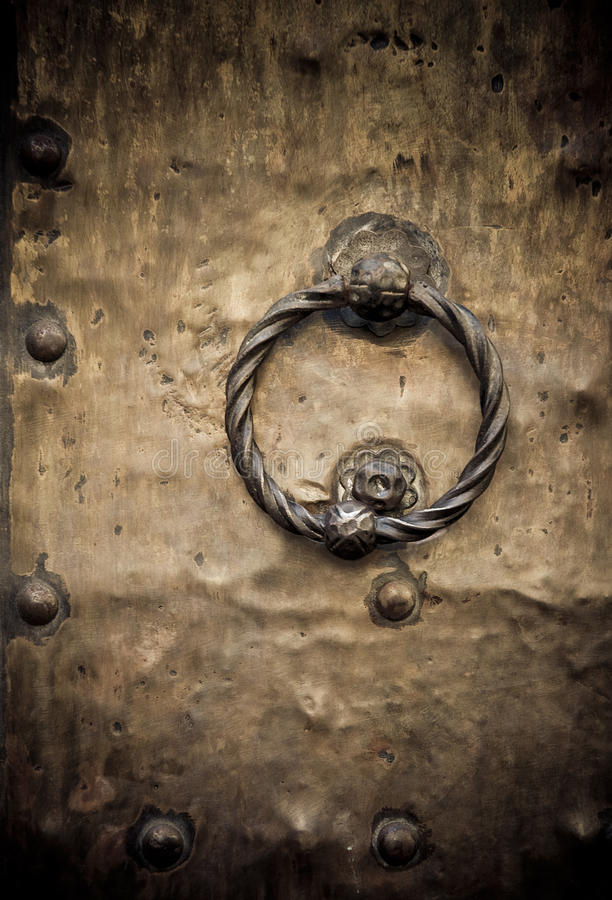 Download Old door, Rome, Italy stock image. Image of knock, knob - 13025753