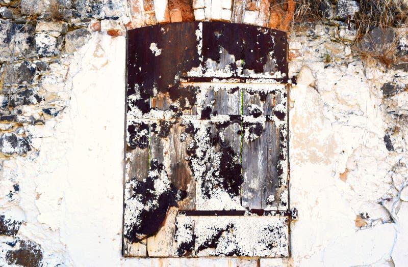 Old Door, Ruin stock image