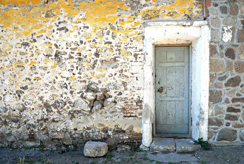 Old Door and Wall stock photo