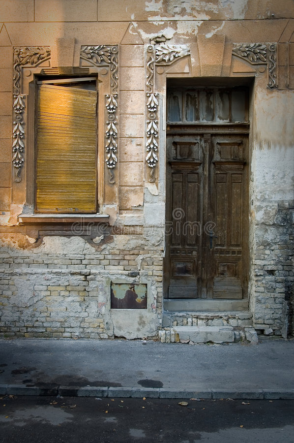 Old Door And Window Royalty Free Stock Photo