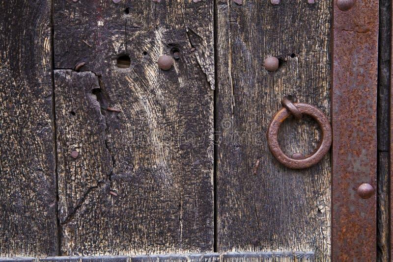 Old door. Old woden door and oxide stock images