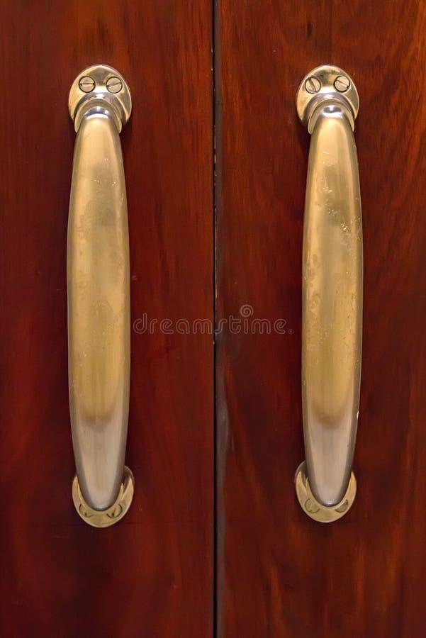 Old Doorknob On Vintage Red Door In India Stock Photo - Image of ...