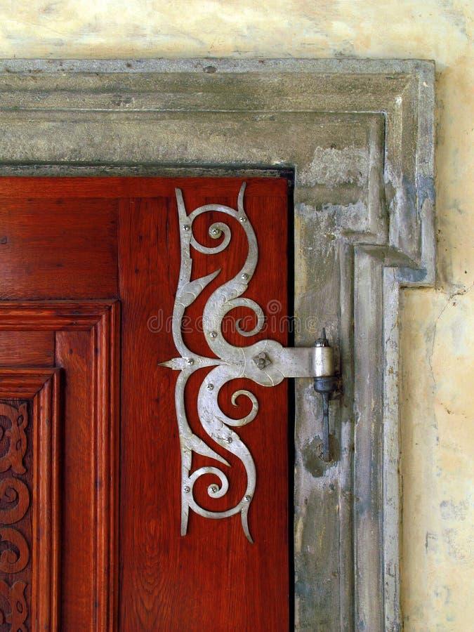 Old doors. Metallic decor of old doors stock image