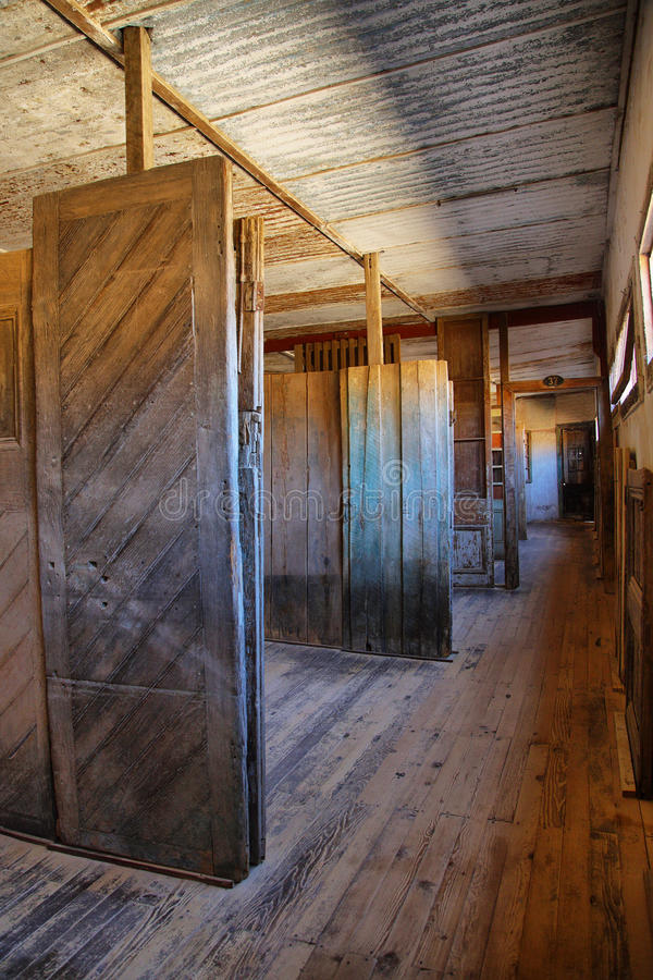 Old doors exhibition in Humberstone, Chile stock photos