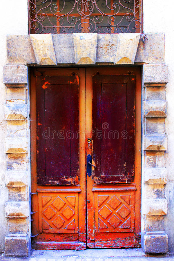 Old doors in France royalty free stock photo