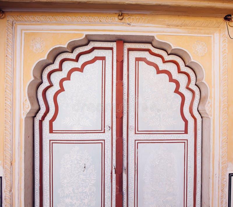 Old Doors of the Hawa Mahal. Hawa Mahal, the Palace of Winds in Jaipur, India. Old Doors of the Hawa Mahal. Hawa Mahal, the Palace of Winds in Jaipur, Rajasthan royalty free stock photo
