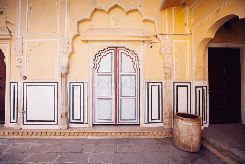 Old Doors of the Hawa Mahal. Hawa Mahal, the Palace of Winds in Jaipur, India. Old Doors of the Hawa Mahal. Hawa Mahal, the Palace of Winds in Jaipur, Rajasthan stock image