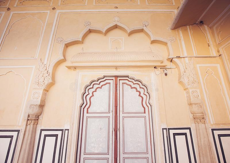 Old Doors of the Hawa Mahal. Hawa Mahal, the Palace of Winds in Jaipur, India. Old Doors of the Hawa Mahal. Hawa Mahal, the Palace of Winds in Jaipur, Rajasthan stock images