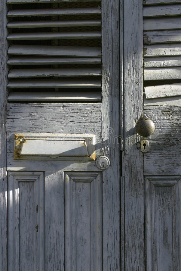 Old doors in New Orleans stock photography