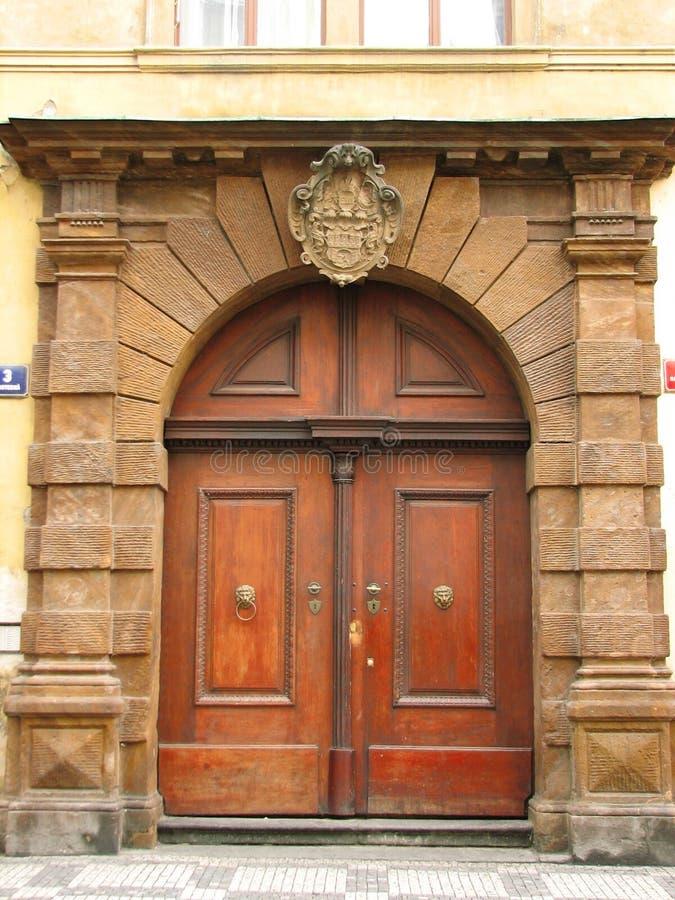Old doors. Prague. stock images