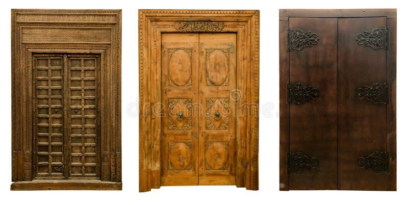 Old doors set 7 royalty free stock image