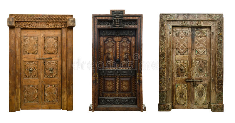 Old doors set 8 royalty free stock image