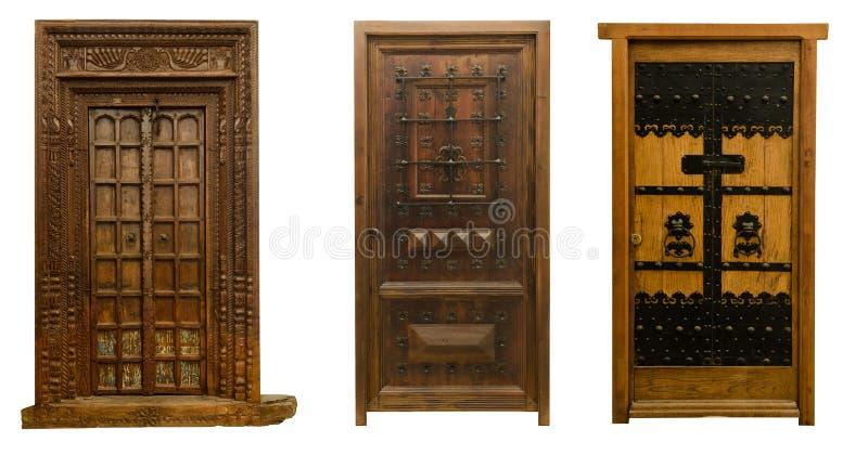 Old doors set 10 royalty free stock photos