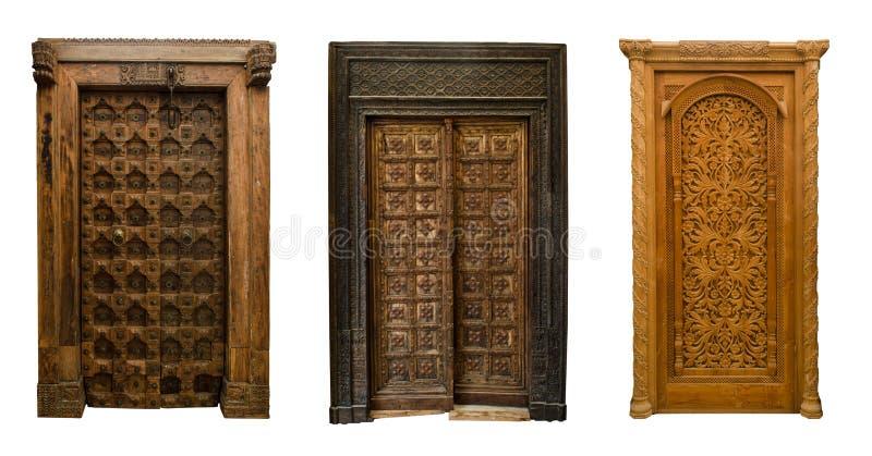 Old doors set 11 stock images