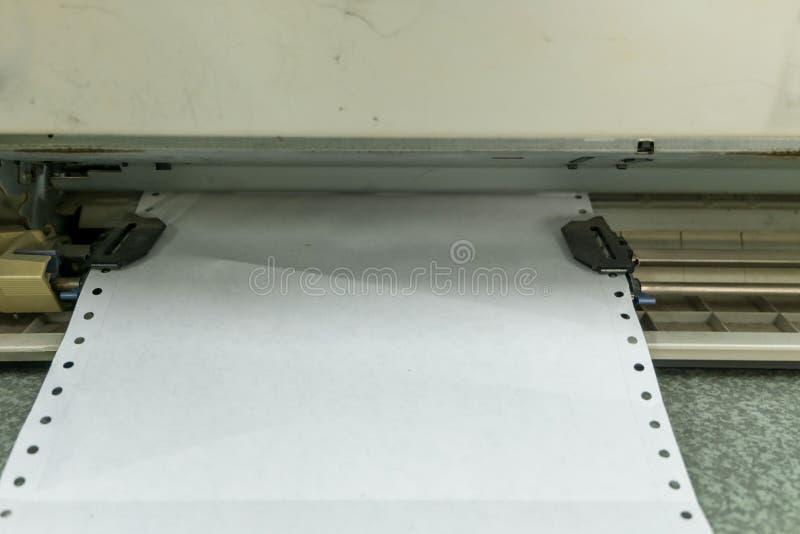 Old dot matrix printer, close up. Old dirty dot matrix printer, close up stock photo