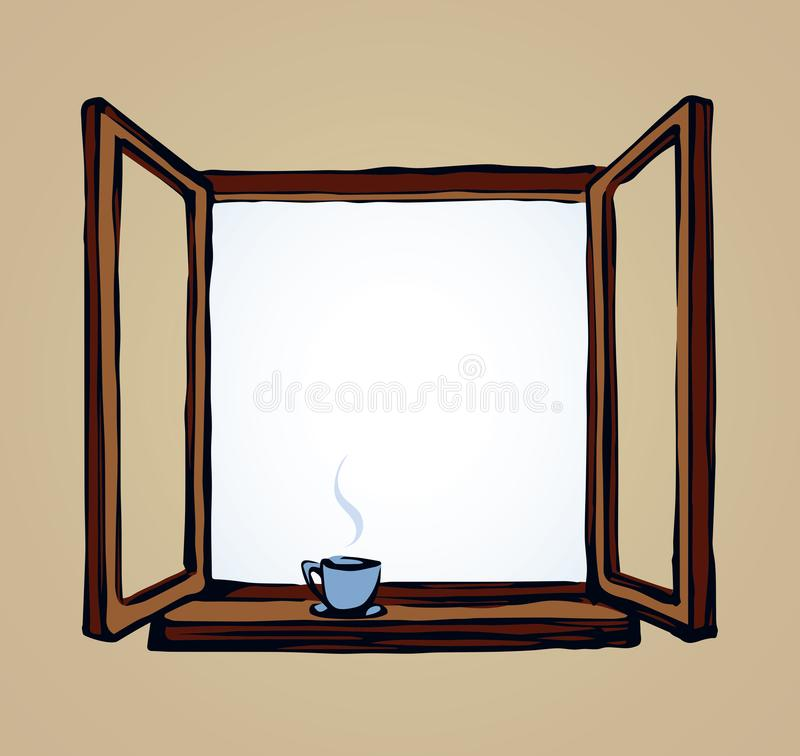 Download Open Window Vector Drawing Stock