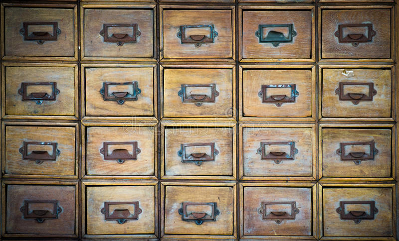 Old drawer stock photo