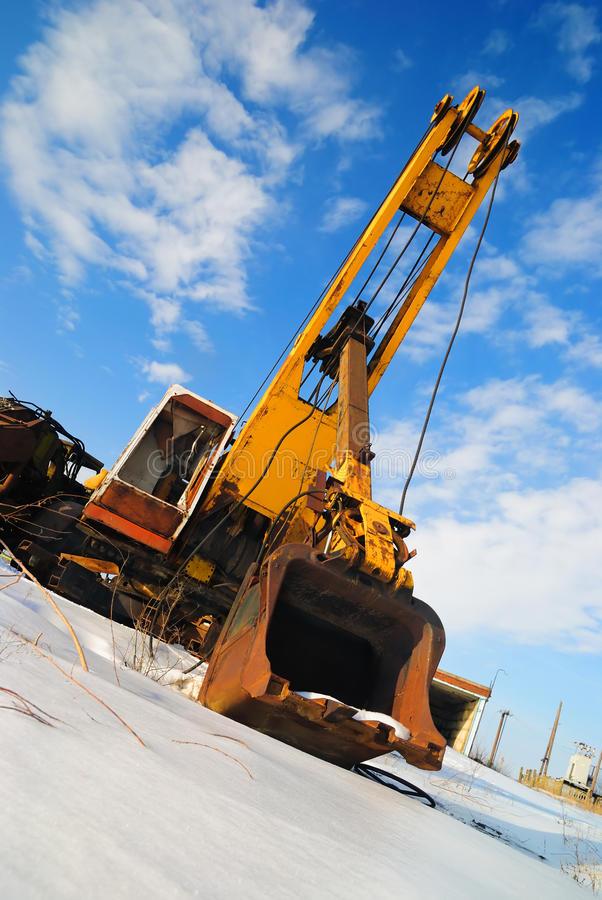 Download Old dredge stock photo. Image of transportation, snow - 12873612