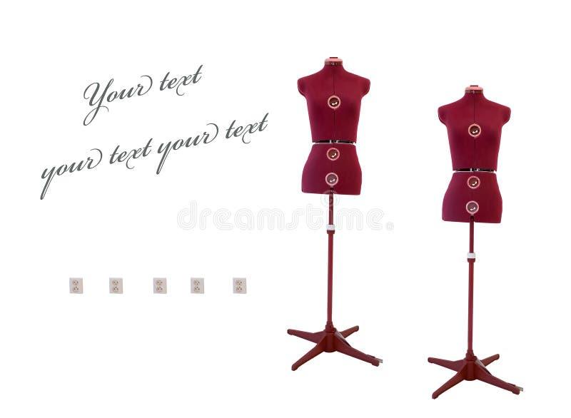 Old dressmaker dummy. Image if a vintage Old dressmaker/ tailors dummy stock photos