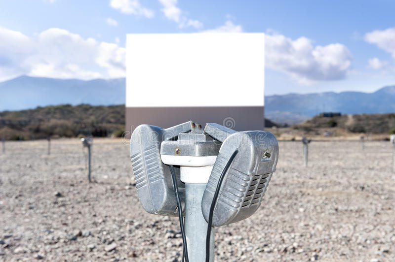 Old Drive in theater royalty free stock photography