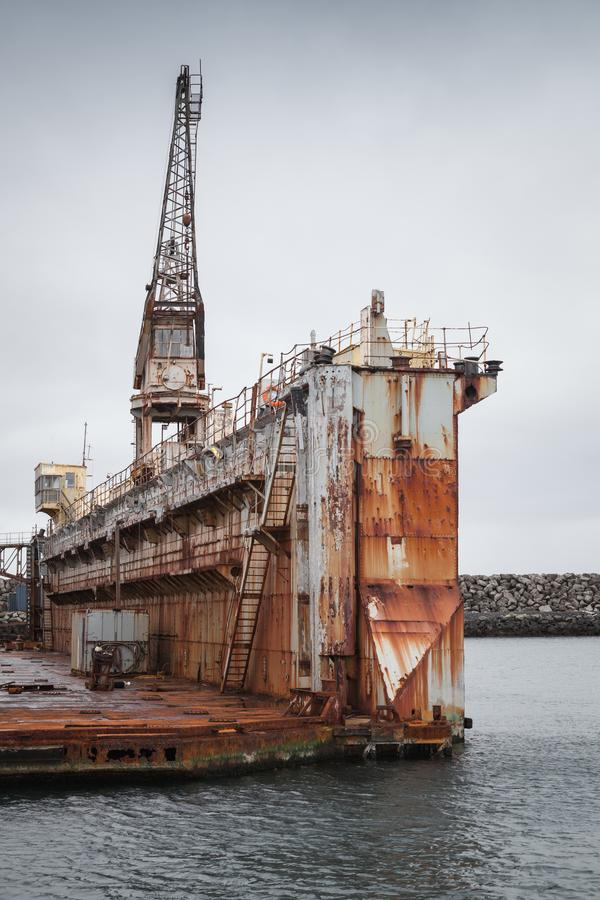 Free Old Dry Dock Fragment, Shipyard In Port Royalty Free Stock Photos - 102538318