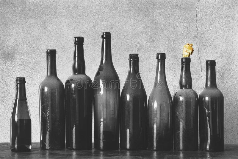 Old bottles stock photography