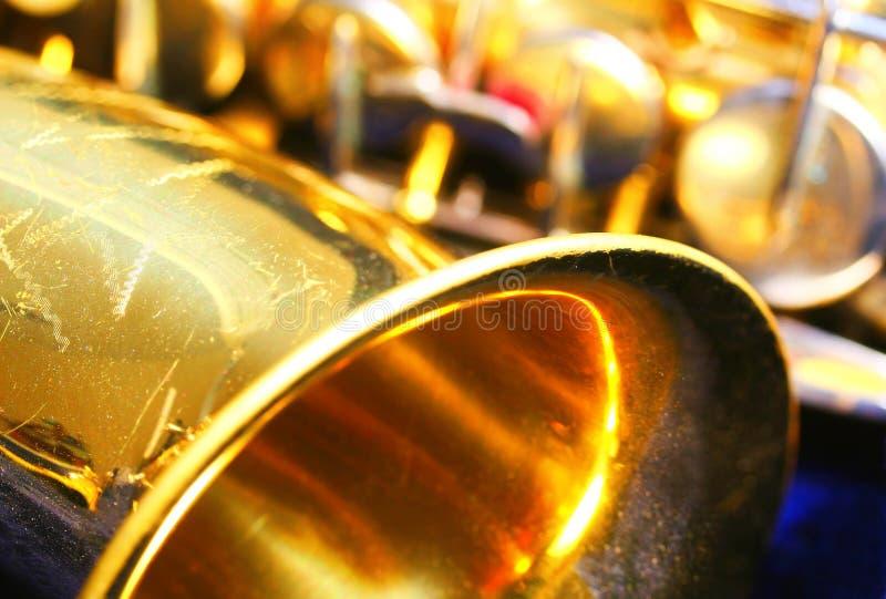 Old dusty Saxophone stock image