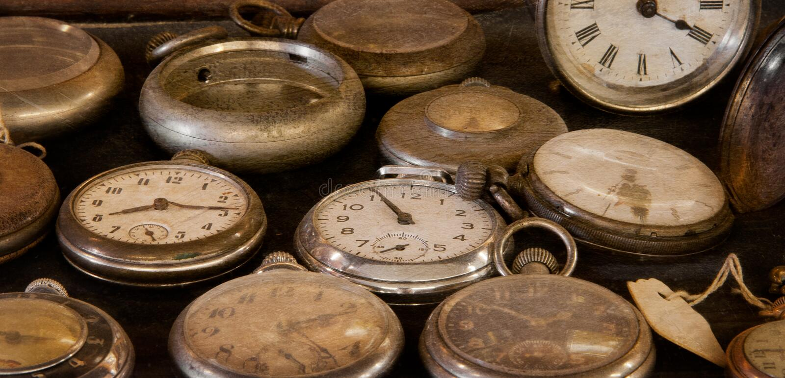 Old Dusty Watches Stock Photos