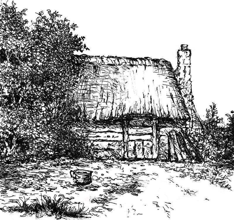 Old Dutch barn. royalty free stock images