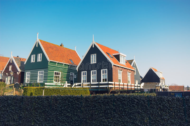 Old dutch houses royalty free stock image