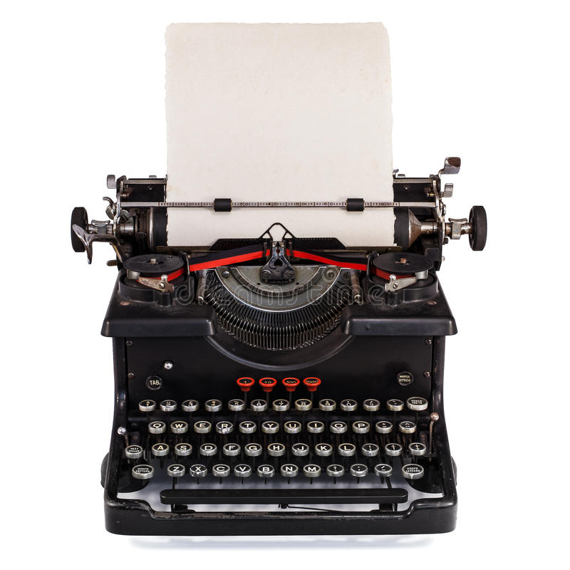 Download Old Dutch Type Writer With Paper Sheet Stock Photo - Image: 26174992