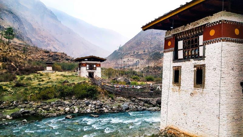 Old Dzong in Paro, Bhutan stock photo