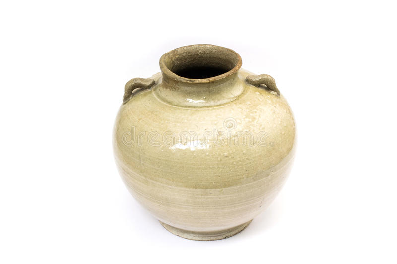 An old earthenware jar royalty free stock photo
