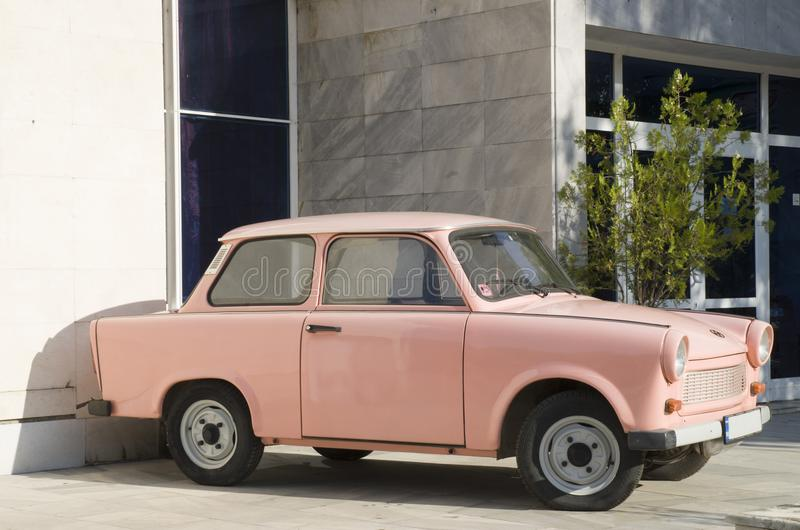 Old East German pink car royalty free stock images