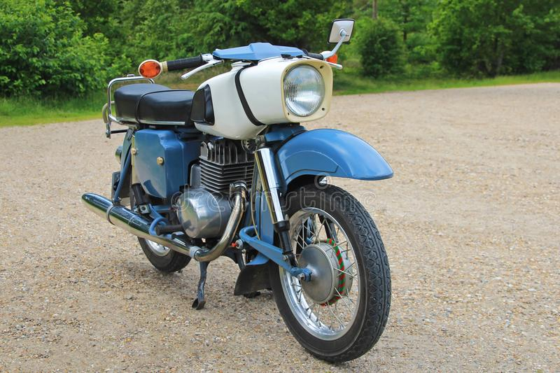 Old east german vintage motorbike royalty free stock image