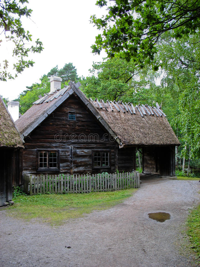Download Old Ecological Cabin In Skansen Park Stock Image - Image: 25959703