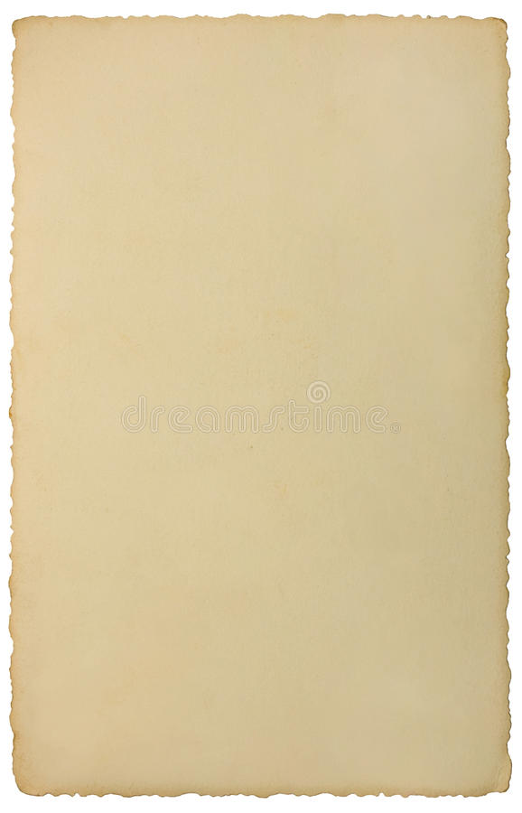 Old edge photo retro vintage photograph background texture, isolated instant film transfer paper card reversed, beige copy space stock image