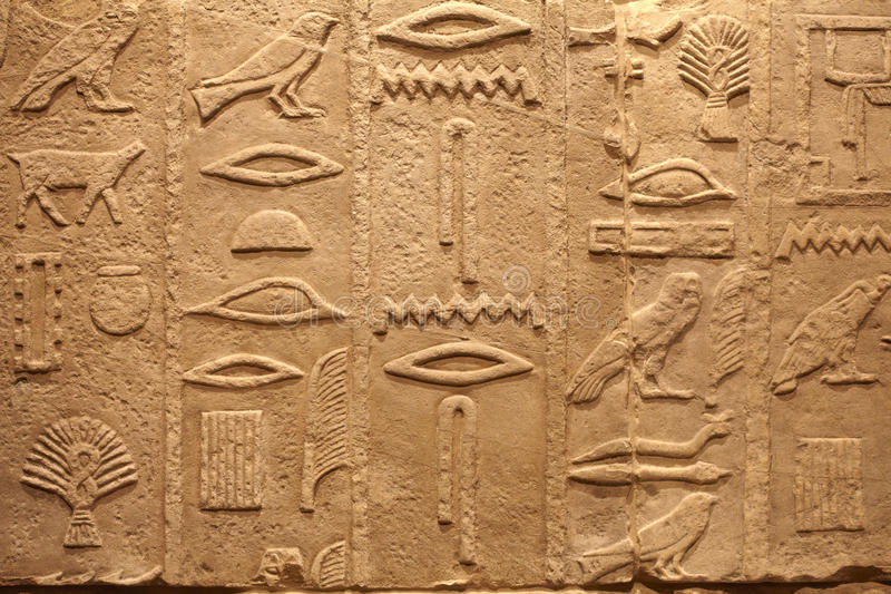 Old Egypt ancient writings royalty free stock photos