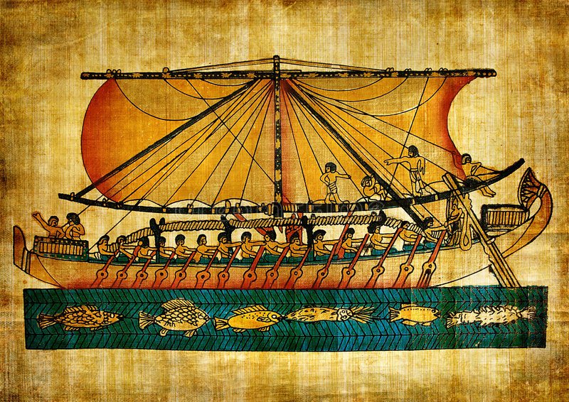 Old Egyptian papyrus stock illustration