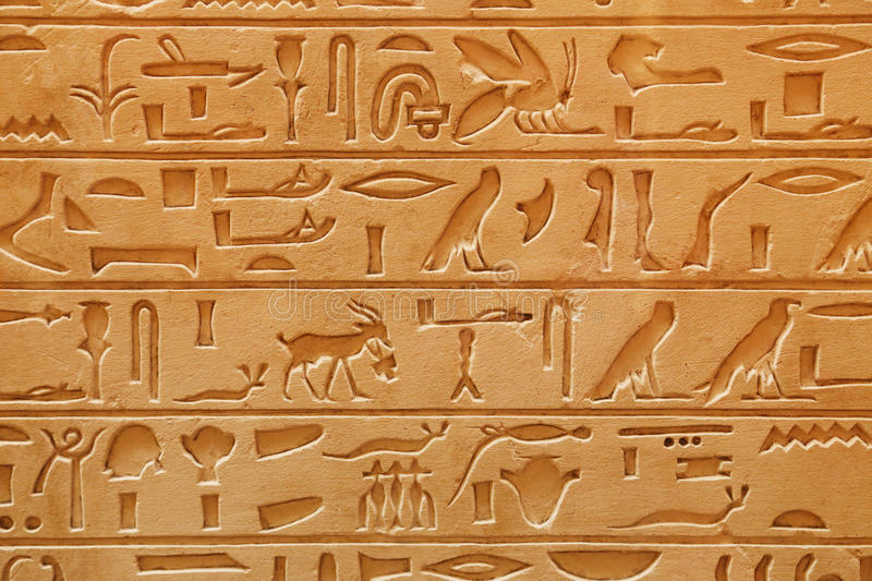 Download Old Egyptian Pictorial Writing On A Sandstone Stock Image - Image: 36552241