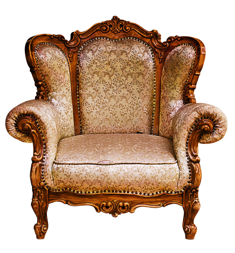 Old Elbow-chair Stock Image