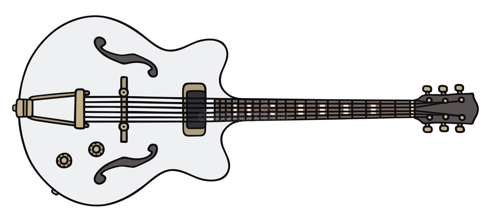 Old electric guitar stock illustration